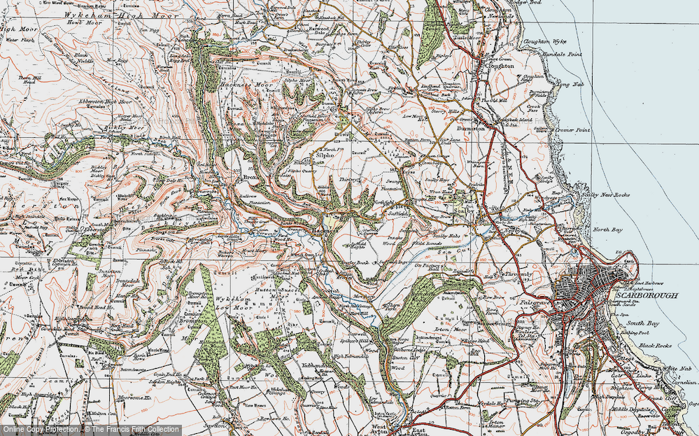 Old Map of Hackness, 1925 in 1925