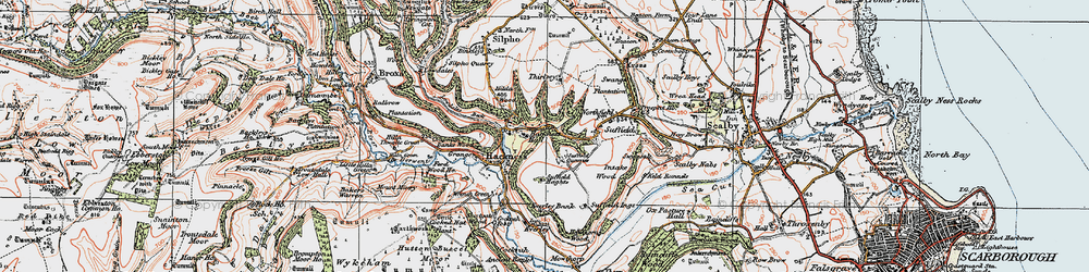 Old map of Wrench Green in 1925