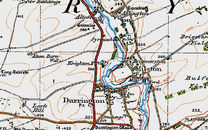 Old map of Hackthorn in 1919
