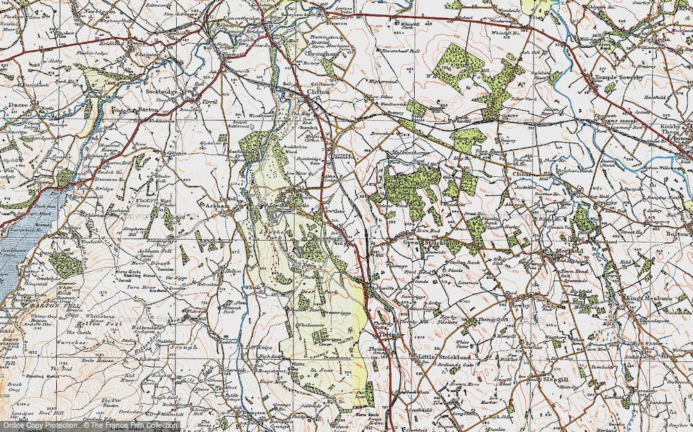 Old Map of Historic Map covering Abbott Lodge in 1925