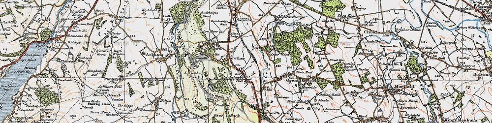 Old map of Abbott Lodge in 1925