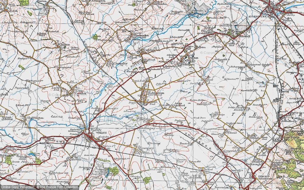 Old Map of Haddenham, 1919 in 1919