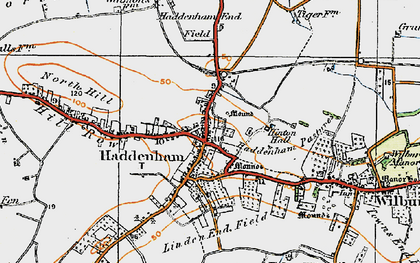 Old map of Linden End Field in 1920