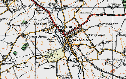Old map of Hadleigh in 1921