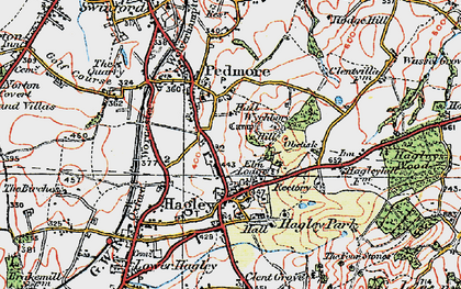 Old map of Wychbury Hill in 1921