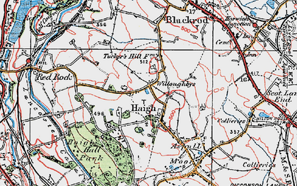 Old map of Willoughbys in 1924