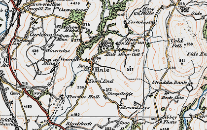 Old map of Whitehow Head in 1925