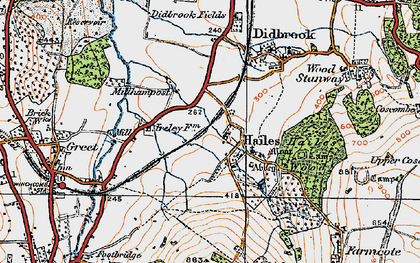Old map of Hailes in 1919