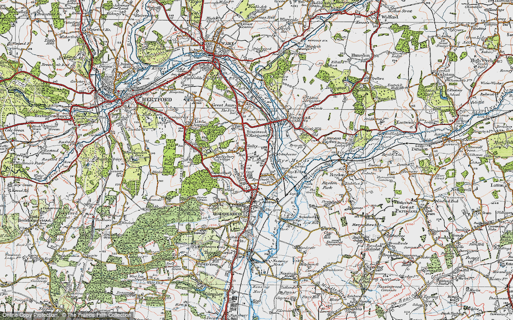 Old Map of Hailey, 1919 in 1919