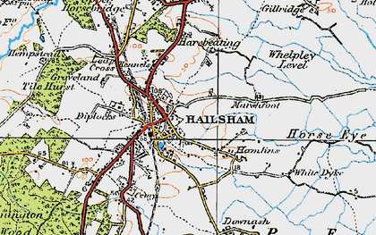 Old map of Lion Ho in 1920