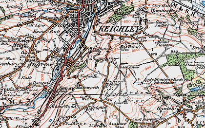 Old map of Back Shaw in 1925