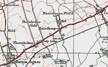 Old map of Wold Gate in 1924