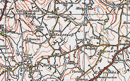 Old map of Halabezack in 1919