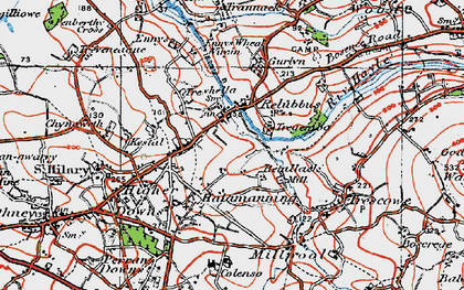 Old map of Halamanning in 1919