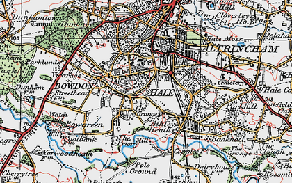 Old map of Hale in 1923