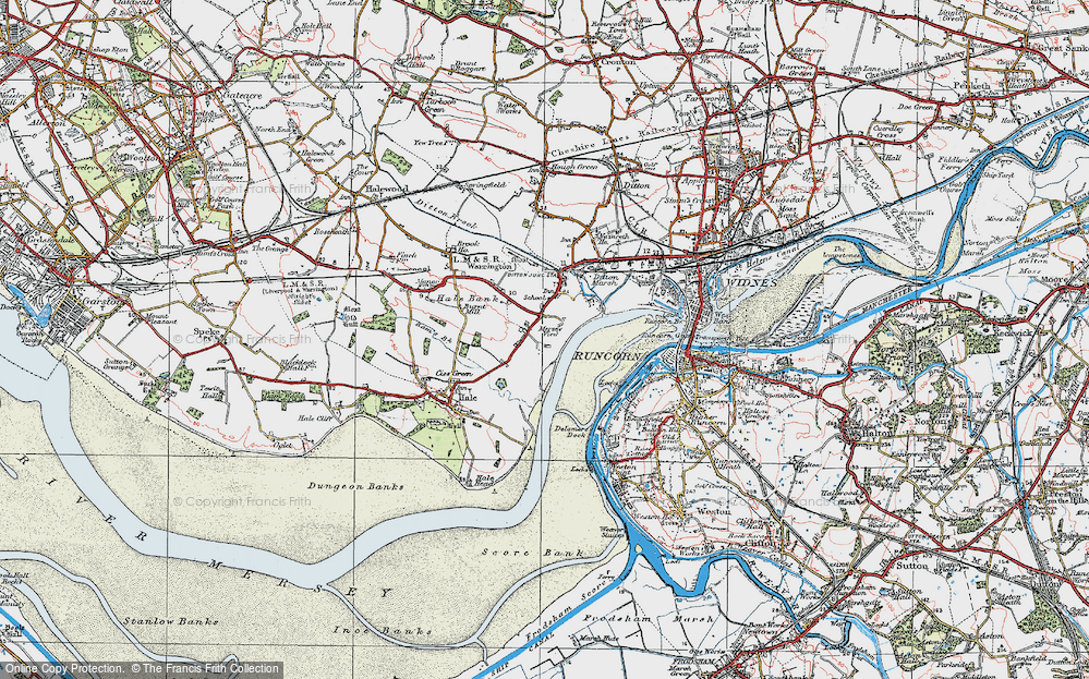 Old Map of Hale Bank, 1924 in 1924