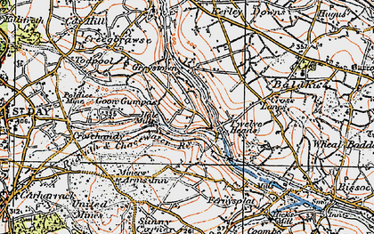 Old map of Hale Mills in 1919