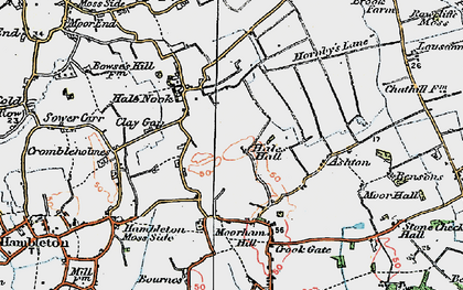 Old map of Ashton in 1924