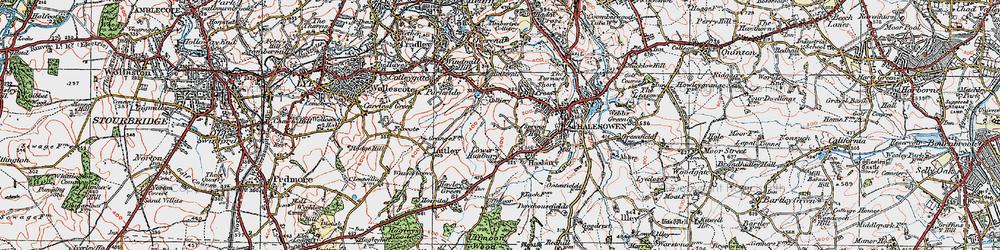 Old map of Halesowen in 1921