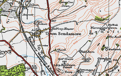 Old map of Halfway in 1919