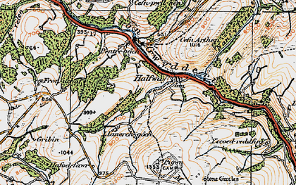 Old map of Halfway in 1923