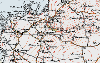 Old map of Halgabron in 1919