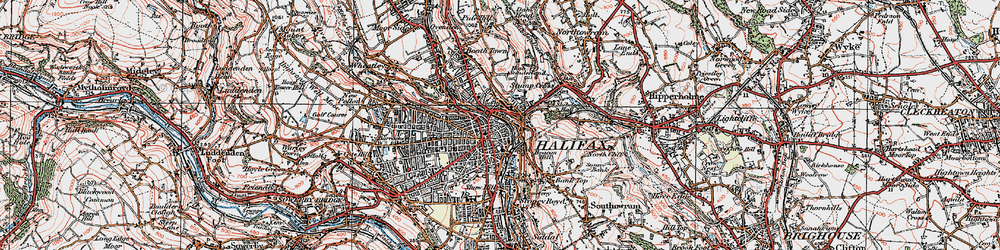 Old map of Halifax in 1925