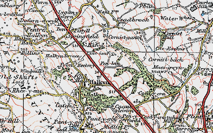 Old map of Halkyn in 1924