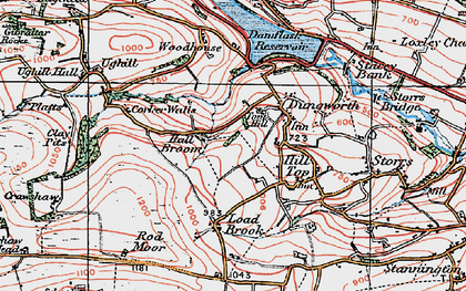 Old map of Tom Hill in 1923
