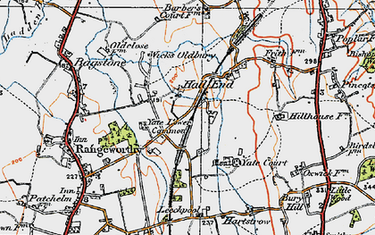Old map of Yate Lower Common in 1919