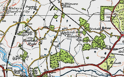 Old map of Hall Grove in 1920