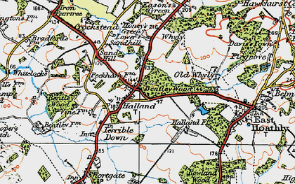 Old map of Halland in 1920