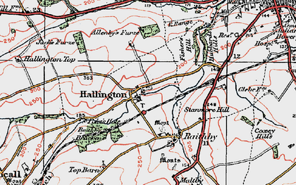 Old map of Allenby's Furze in 1923