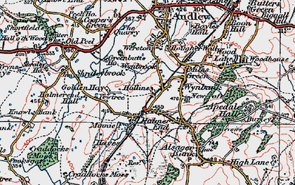 Old map of Wynbrook in 1921