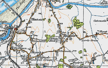 Old map of Acton Hall in 1919