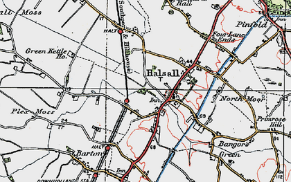 Old map of Halsall in 1923