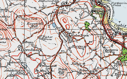 Old map of Halsetown in 1919