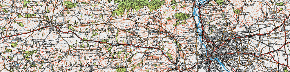 Old map of West Rowhorne in 1919