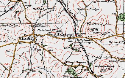 Old map of Tilton Grange in 1921