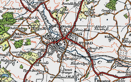 Old map of Halstead in 1921