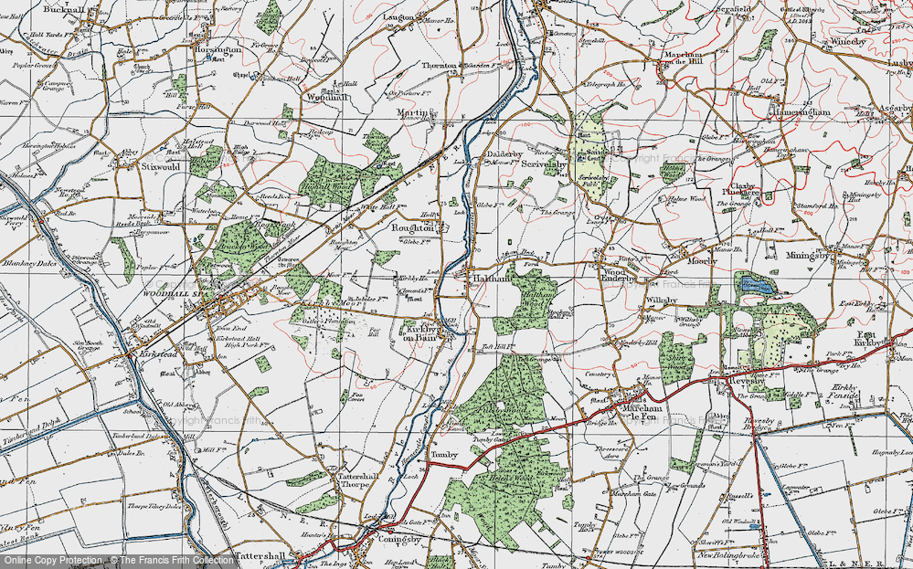 Old Map of Haltham, 1923 in 1923