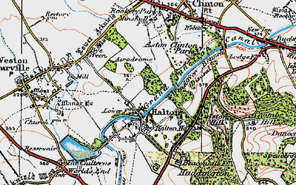 Old map of Halton in 1919