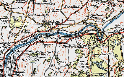 Old map of Halton in 1924