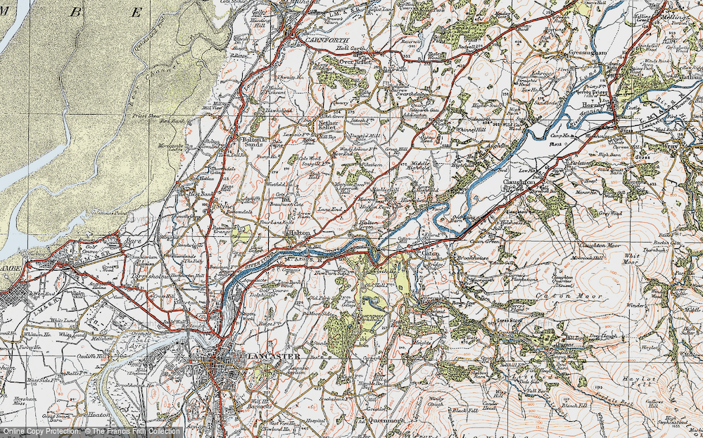 Old Map of Historic Map covering Laverick Hall in 1924