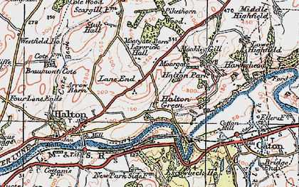 Old map of Laverick Hall in 1924