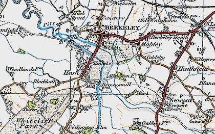Old map of Ham in 1919