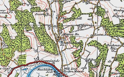 Old map of Hambleden in 1919