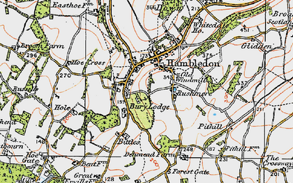 Old map of Hambledon in 1919