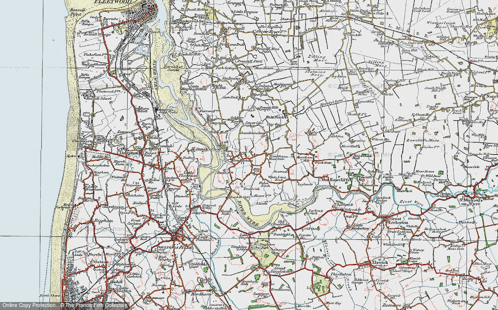 Old Map of Hambleton, 1924 in 1924