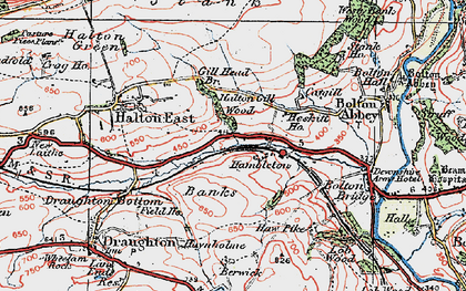 Old map of Barden Scale in 1925